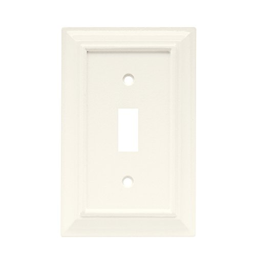 Brainerd 126333 Wood Architectural Single Toggle Switch Wall Plate / Switch Plate / Cover