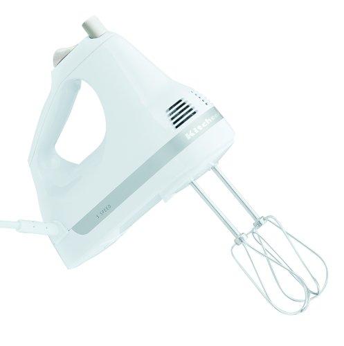 KitchenAid KHM5APWH White 5-Speed Ultra Power Hand Mixer Kg071asst