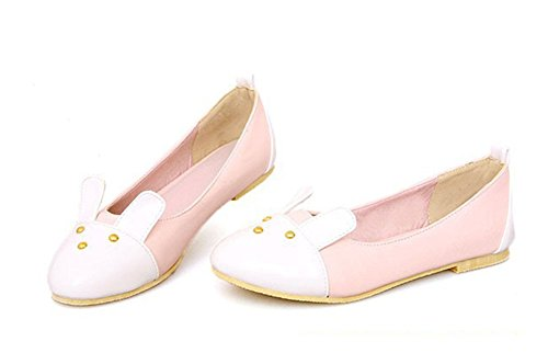 Flats Aisun Cartoon Colour On Pattern Women's Slip Pink Loafers Matching Lovely WPZ7zBW