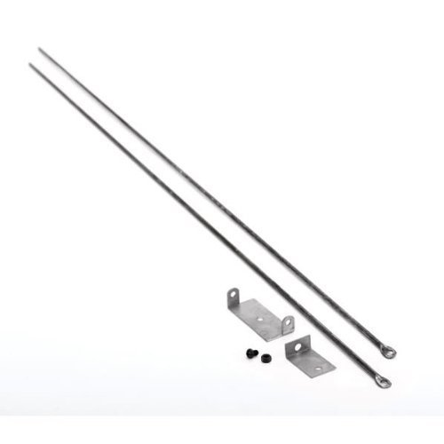 Copperfield 61090 Woodfield Hanging Fireplace Spark Screen Rod Kit, Includes Two 3/16 Inch Diameter x 32 Inch Rods, Mounting Brackets, Adjusts To Max Fireplace Opening of 58 Inch by Woodfield