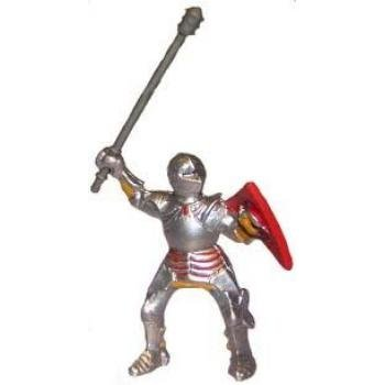 Bullyland Knight with Flail and Red Shield (Horse sold separately)