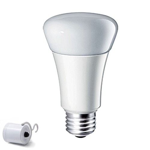 YJY Emergency LED Light Bulb with Build-in Rechargeable Battery for Hurricane Power Cut, Lampholder Hook for Camping Flashlight, 9W(60W Equivalent) 6000K E27 E26 120V 220V
