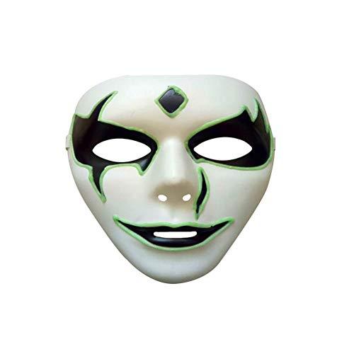 HongXander Mask, Luminous Mask Halloween Party Costume Party Mask Horror Skeleton Skull Full Face Mask (D) -