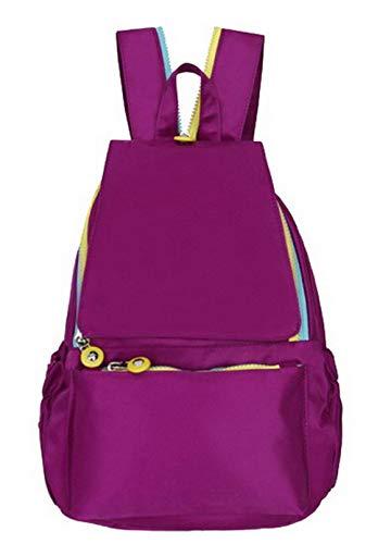 De fourre Sacs Saphir Nylon Tout Mode Sacs FBUFBC182409 Zippers Violet bandoulière AllhqFashion à Femme qwCPBtB1
