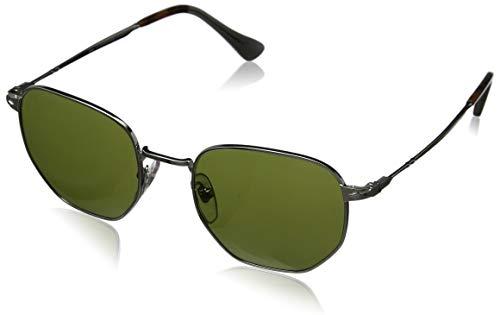 (Persol Men's PO2446S Sunglasses Silver/Green 52mm)
