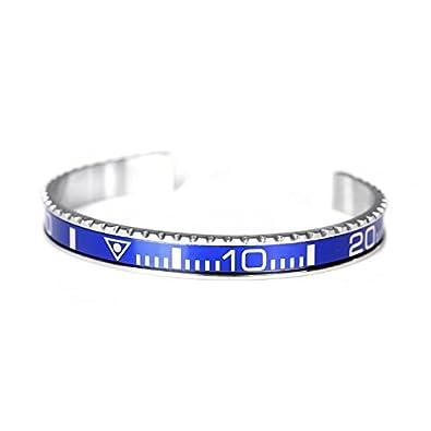 comment commander le plus en vogue vaste gamme de Bracelet jonc en acier émaillé imitant la lunette du modèle ...