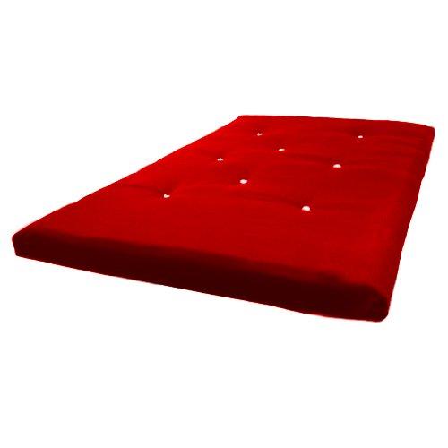Matching Bedrooms Futon-Matratze, 3-Sitzer, Rot