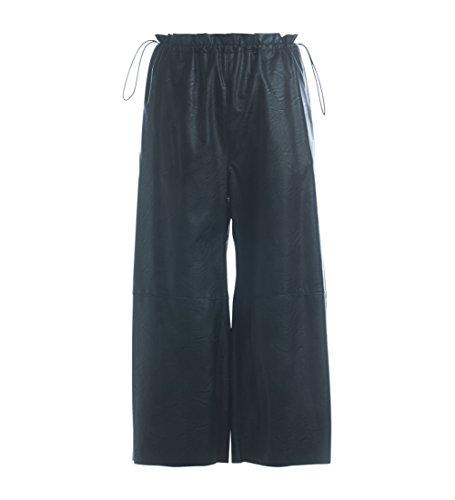 Pantalone MM6 Maisona Margiela in ecopelle nera Negro