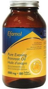 Efamol-Evening Primrose Oil 1000mg (180Capsules) In Glass Bottle Brand: Efamol
