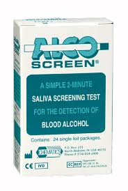 Alco-Screen 2 Minute Saliva Alcohol Test (24 Kits)