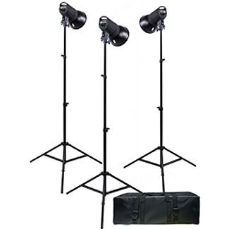 Promaster SM300 Digital Display 3-Light Studio Kit by Promaster