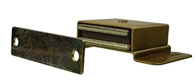"Monroe Brass High Performance Magnetic Catch, Dull Finish, 34.00 lbs Pull Power, 3-1/2"" Length x 2"" Width x 2"" Height"