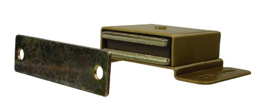 Monroe Brass High Performance Magnetic Catch, Dull Chrome Finish, 34.00 lbs Pull Power, 3-1/2'' Length x 2'' Width x 2'' Height