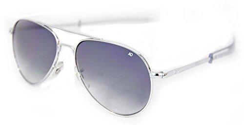 American Optical Limited Ed General Bayonet 52 Silv Grad Grey Sunglasses (Grade Aviator Military Sunglasses)