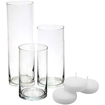 Amazoncom Royal Imports Glass Cylinder Vases Set Of 3