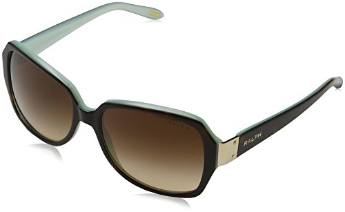 Ralph by Ralph Lauren Women's 0ra5138 Square Sunglasses, TORTOISE/TURQUOISE, 58.0 mm (Sunglasses Ralph)