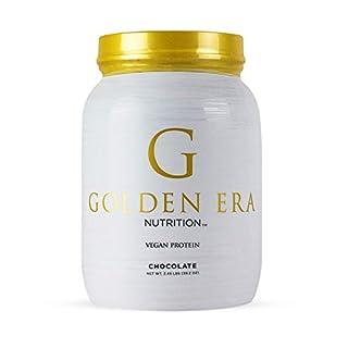 Golden Era Nutrition Organic Plant Based Vegan Protein Powder, Chocolate Flavor, Vegan, Low Net Carbs, Non Dairy, Gluten Free, Lactose Free, No Sugar Added, Soy Free, Kosher, Non-GMO, Single Serving