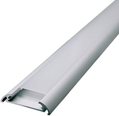 5 x 1 metro perfil de aluminio de ancho para LED Tira doble fila ...