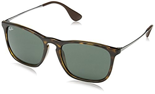 Ray-Ban Chris RB4187 Sunglasses Light Havana / Green 54mm & Cleaning Kit - Ban Chris Rb4187 Ray