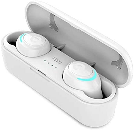 ハンズフリーステレオヘッドセット、400 Mah充電ビン付きの真のワイヤレスBluetooth 5.0、マイクIphoneバージョンAndroid zz付きスポーツイヤフォン,C