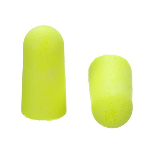 3M E-A-Rsoft Yellow Neons Earplugs 312-1250, Uncorded, Poly Bag