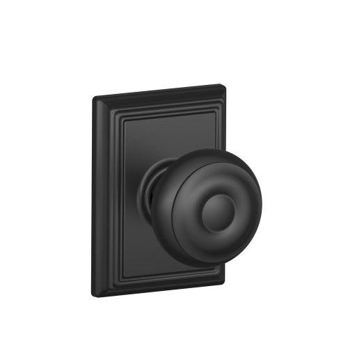 Schlage F10GEO622ADD Addison Collection Georgian Passage Knob, Matte Black