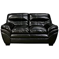 Signature Design by Ashley 4650135 4650138 Tassler Durablend Sofa, Black