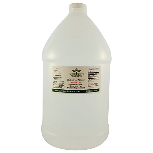 Earthborn Products - Monatomic Colloidal Silver 100 PPM - 1 Gallon bottle - Immune Booster, Anti-inflamatory Support, Anti-Bacterial Support, Anti-Viral Support Supplement