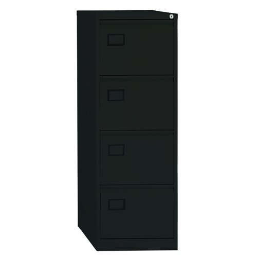 Bisley Contract Basic Filing Cabinet 4 drawers H 131 W 47 D 62 cm AOC4-AV1-Black AOC4-av1-001