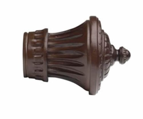 Kirsch Wood Trends Classics Charleston Finial, for 2'' pole, Mahogany (MPN# 46802083) by Kirsch (Image #2)