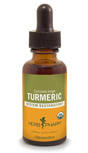 (Herb Pharm Certified Organic Turmeric Root Liquid Extract for Musculoskeletal System Support - 1 Ounce)