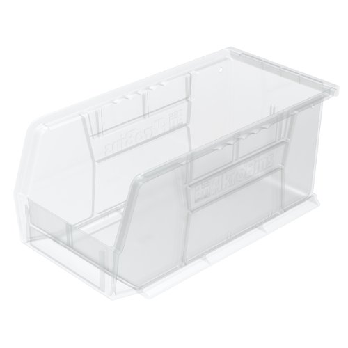 Akro-Mils 30230 Plastic Storage Stacking AkroBin, 11-Inch by 5-Inch by 5-Inch, Clear, Case of 12 -