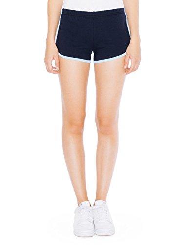 American Apparel Women's Interlock Running Short Size XL Navy/Baby - Short Interlock Infant