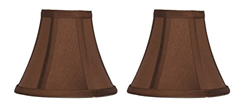 Urbanest Set of 2 Copper Silk Bell Chandelier Lamp Shade, 3-inch by 6-inch by 5-inch, Clip-on
