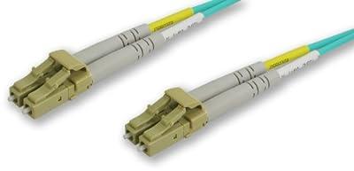 Lynn Electronics LCLC-10GIG-20M LC-LC 50/125-10 Gig Duplex Multi-Mode Fiber Optic Patch Cable, 20-Meter, Aqua