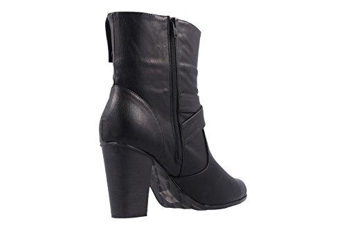 ANDRES MACHADO - Damen Stiefeletten - Schwarz Schuhe in Übergrößen