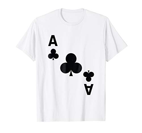 Ace of Clubs Shirt poker playing card halloween costume tee -