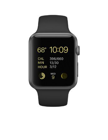 Apple Watch Sport 42mm Space Gray Aluminum Case with Black Band (Refurbished)
