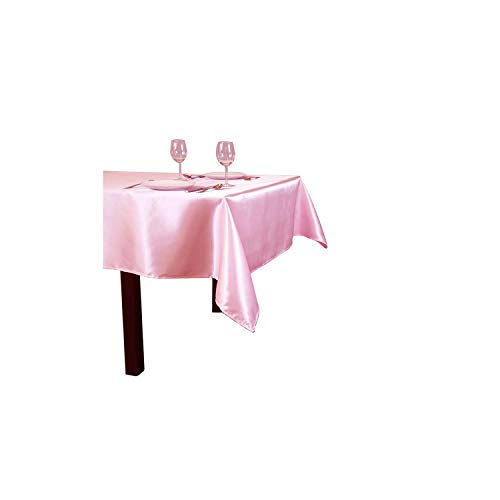 Tablecloths Table Cover Rectangular Satin Tablecloth for Wedding Birthday Party Hotel Banquet Decoration,Peach,145x320cm