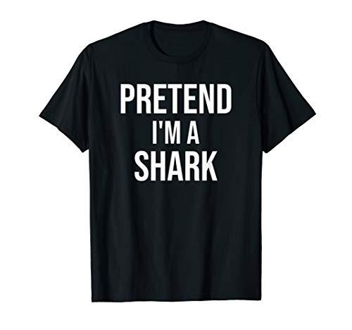 Pretend I'm A Shark Tshirt Funny Lazy Halloween Costume Tee]()