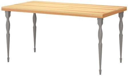 Amazon.com - IKEA Table, Pine Veneer top, Gray Legs ...