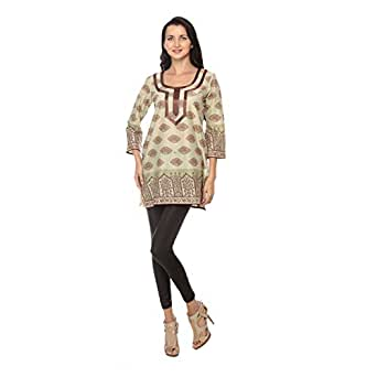 Cocum Idalika Tunic for Women - 12 UK, Brown