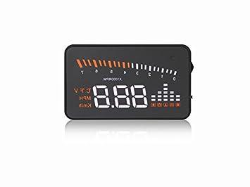 iTimo - Velocímetro GPS para coche, interfaz OBD2 para automóvil X5 de 7,62 cm, parabrisas proyector de coche, pantalla digital, velocímetro de coche: ...