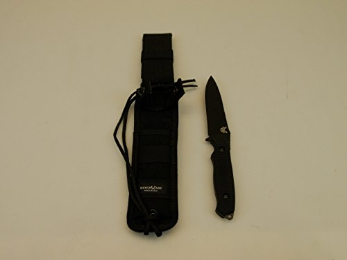 Benchmade Knife 140BK Nimravus, Fixed Black Blade, Black -