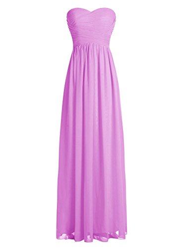 Dressystar Robe de demoiselle d'honneur/de soirée longue formelle Taille 50 Lilas