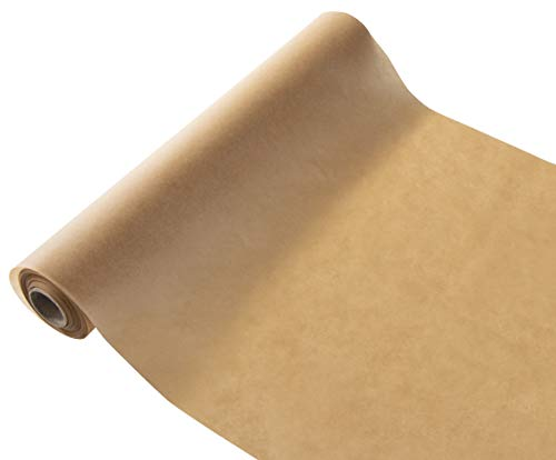 Unbleached Parchment Paper - 205-Square Foot Roll Non-Stick Baking Pan Liner, With Built-In Paper Cutter In Box, For Temperatures Up To 450-F, Bakery, Kitchen Cooking Use, Brown, 15 Inches x 164 Feet