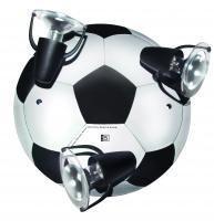 Waldi Leuchten Deckenstrahler Fußball Round Schwarz-weiß, Schwarz/Weiß, Holz, 65271.0