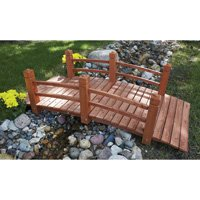 5-Ft. Long Wooden Decorative Garden Bridge by Consumer Sales Network (Image #1)
