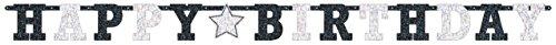Prismatic Letter (Amscan Classic Prismatic Birthday Letter Banner, Black/White, 8' x 6)