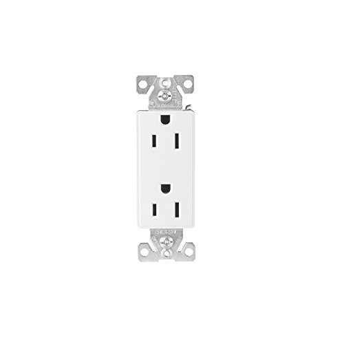 Cooper Wiring 6352W-Bu Receptacle Decorator Duplex 20A 125V 2P3W Back And Side Wire; White (Pack (Cooper Decorator Duplex Receptacle)
